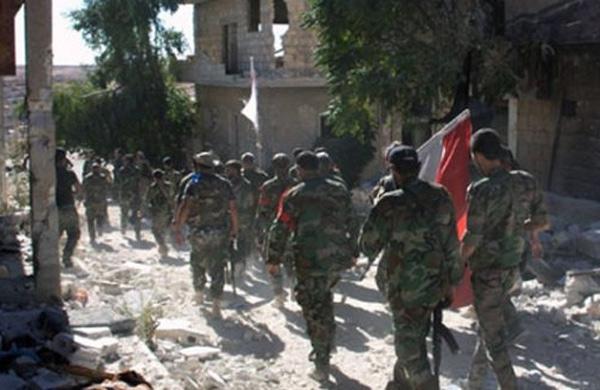 الحيش السوري يتقدم ويسيطر على بلدة الديرخبية بريف دمشق ومنطقة المقلع وكسارات العويجة في حلب