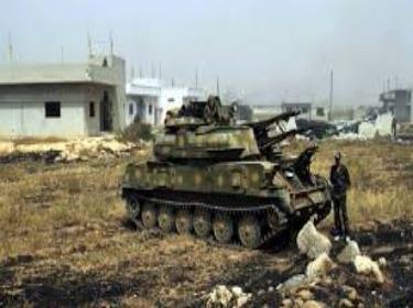 الجيش يعثر على معمل متفجرات أثناء عمليات التمشيط في شارع بردى بالزبداني